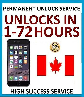 UNLOCK SERVICE For iPHONE 5 5c 5s 6 6s 6+ 6s+ SE 7 7+ 8 8+ ROGERS FIDO