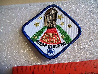 Canadian Girl Guides  Badge/Patch Dude's Palace Camp Olave BC