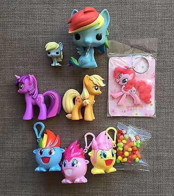 My Little Pony LOT OF FRIENDSHIP IS MAGIC items (Funko, candy keychains, more)
