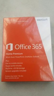 Microsoft Office 365 Home Premium Subscription Licence 1Yr Upto 5 Pcs 32/64 Bit