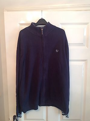 retro fred perry mens cardigan size l