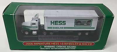 Hess 2006 Miniature 18 Wheeler & Racer Lights Up!  Free Shipping!