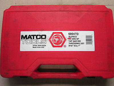 Matco 25 Piece SAE Large Tap and Die Set 6094TD in Case