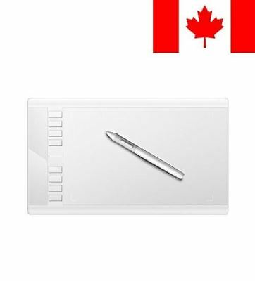 Ugee M708 Graphic Drawing Pen Tablet with 10 x 6 Inches-White