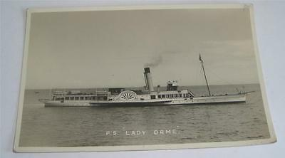 PACKET STEAMER LADY ORME REAL PHOTO POSTCARD 1930's CAMBRIAN SHIPPING CO    34