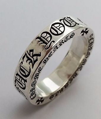 Authentic 2003 Chrome Hearts Sterling Silver 925 F**K Y** Ring Size 9