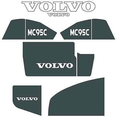 Volvo MC95C Decals Stickers Repro Decal Kit for Compact Track Skid Loader