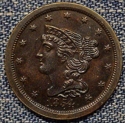 1854 Braided Half Cent MS++++ Coin