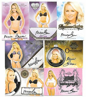 Benchwarmer Michelle Baena 7 Card Auto Autograph Lot Hot Playboy Cover Model!
