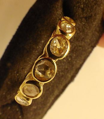 3106 Antique Victorian 18K Yellow Gold Ring With Natural Diamonds Degradé C.1890