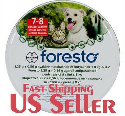 5 X Bayer Seresto Foresto Flea & Tick Collar for Small Dogs and Cats under18lbs