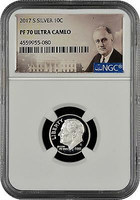 2017 S Silver Roosevelt Dime NGC PF70 Ultra Cameo (Portrait)
