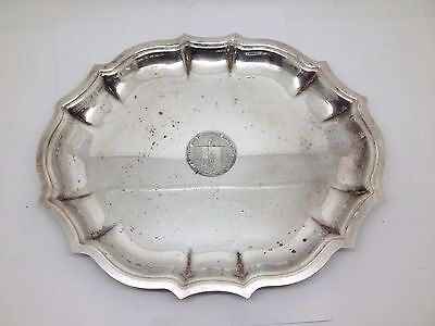 Chippendale Silverplate Mass. Ancient & Honorable Artillery Co. Tray