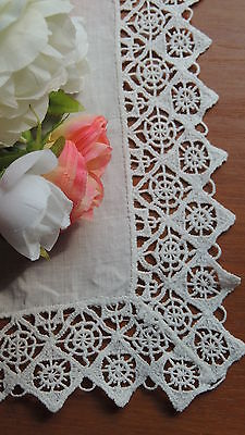 Vintage Wedding Hanky Linen & Lace