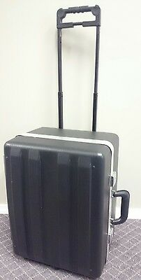 Hard Shell Rolling Salesman Travel Case Sample Dsplay Case  2 trays