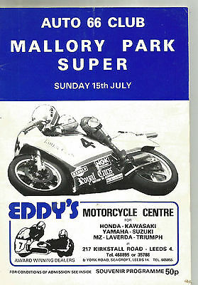 Auto 66 Club Mallory Park Super National Motor Cycle Road Races 15Th July 1984