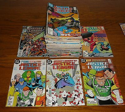 Lot of 89 Justice League # 1-113 DC Comics, 1987-1996+  HIGH GRADE Kevin Maguire