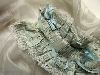 Loveliest Antique French Edwardian Delicate Hdmd Silk Ruched Ruffle Ribbon Trim