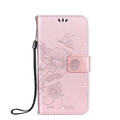 Magnetic Woman Floral Stand Leather Wallet Flip Case Cover For Samsung Galaxy S8