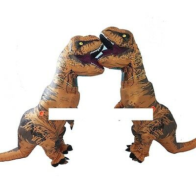 T-Rex DINOSAUR Inflatable Adult Costume TRex Costumes Halloween Party Dress%