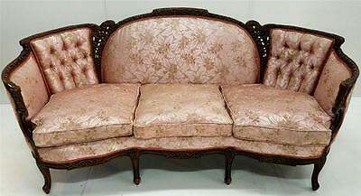 19536  French Victorian Shapely Carved Sofa