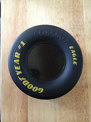 """Goodyear  """" Eagle """" Slick Rubber Tire - Factory Store Desk Prop / Paper Weight"""
