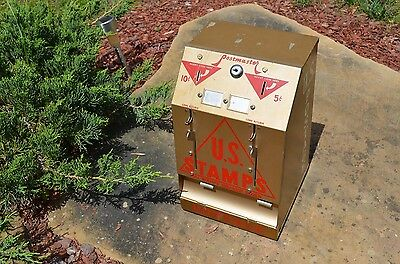 "VINTAGE 50's RARE ""GOLD VERSION"" US POSTAGE STAMP MACHINE BEAUTIFUL CONDITION"
