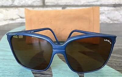 Vintage Blue Bolle Irex 100 sunglasses Ski Cat Eye MINT