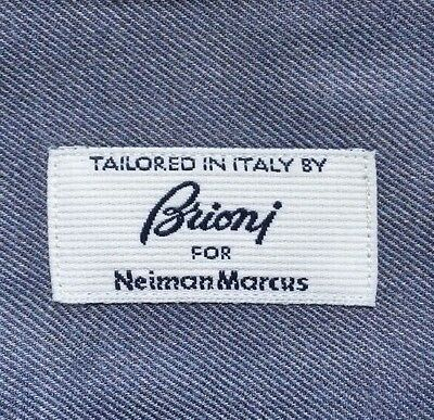 Men's Brioni For Neiman Marcus Tailored in Italy Blue Dress Shirt L Large