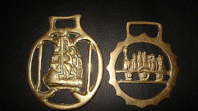 2 Vintage Horse Brass decorations