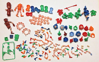 R&l Cereal Toys ~ Massive Lot Of Puppet People Spare Parts ~ Aussie 1971 Vintage