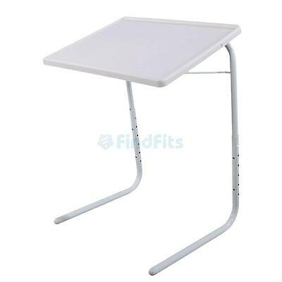 Laptop Notebook Computer PC Desk Table Stand over Bed Bracket Foldable White