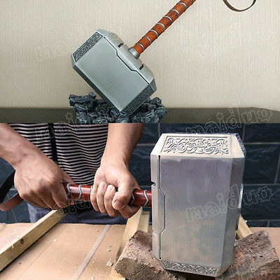 Thor Odinson Cosplay Thor's Hammer+Pedestal 1:1 4KG Weapon Collection Metal Hot