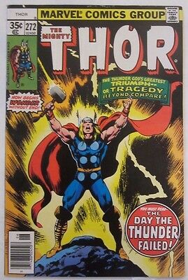 Thor #272 (Jun 1978, Marvel) Classic Cover, VF/NM