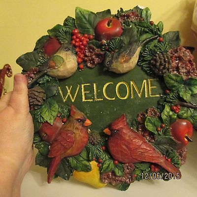 New Creative Christmas Wreath With Cardinals Welcome #92166
