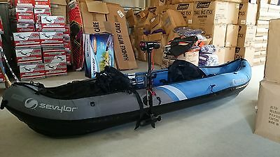 inflatable KAYAK sevylor 2 person colorado  canoe +,motor