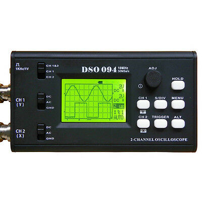 DSO094 10MHz Portable Digital Dual-channel 50MS Storage USB Oscilloscope Built-i