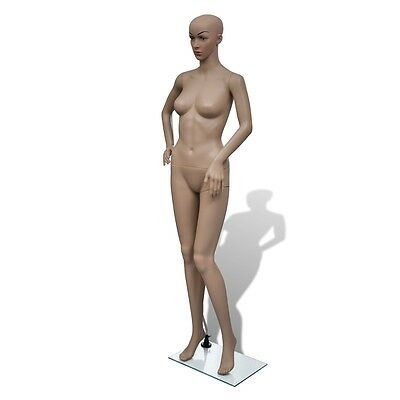 Female Mannequin 175cm Shop Model Window Cloth Display Full Body Size Glass Base