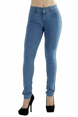 N3162 - Colombian Design, Butt Lift, Levanta Cola, Mid Waist Skinny Jeans