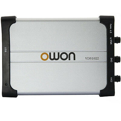 OWON VDS1022 Digital 2 x 25MHz 100MS/s PC USB Million Oscilloscope MIT Isolation