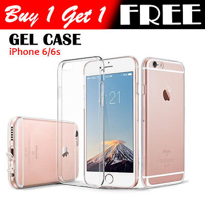 Ultra Thin Slim TPU Gel Skin Cover Case  for Apple iPhone 6 6S (90