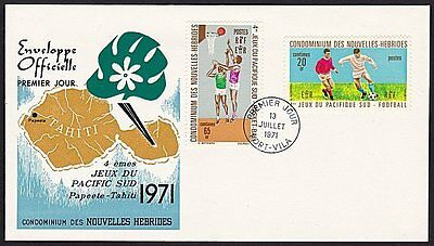 NEW HEBRIDES FRENCH 1971 Pacific Games, football etc,  FDC.................68391