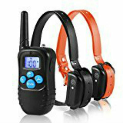Safe Waterproof Rechargeable Dog Training Collar Remote E-Collar for 2 Dogs