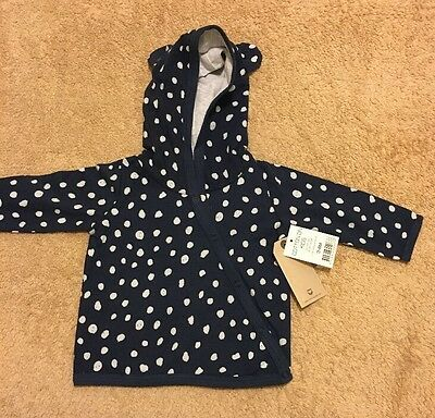 NEW ! with Tags Cotton on Baby Boys size 3-6m Hoodie jacket