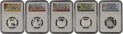 2017 S Silver Quarter Set From 10-Coin Silver Set NGC PF70 U.C. (N)