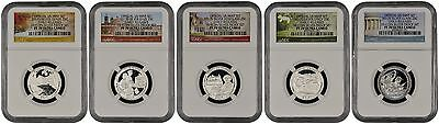 2017 S Silver Quarter Set From 10-Coin Silver Set Early Releases NGC PF70 U.C.