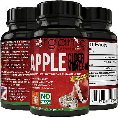 Organic Apple Cider Vinegar Capsules Weight Loss - Fast Acting!
