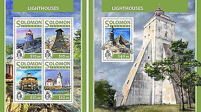 SOLOMON ISLANDS 2017 ** Lighthouses Leuchttürme SET #223baC