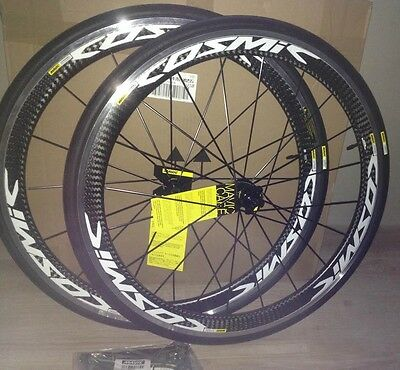 2017 - MAVIC COSMIC PRO CARBON WHITE 700x25  Wheelset Wheels !! NEW !!