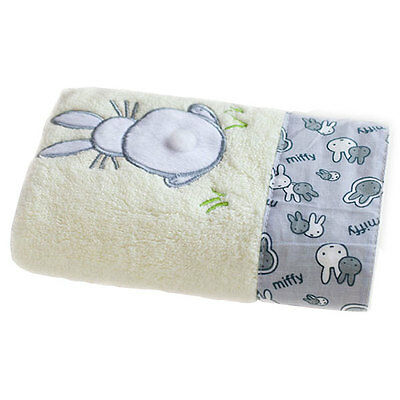 Cute Rabbit Animal Children Kids Hanging Hand Towel Bath Face Cloth Flannel
